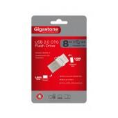 Gigastone Premium USB 2.0 Flash Drive 8GB OTG for Smartphones & Tablet U205