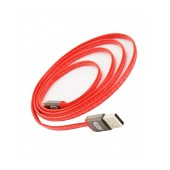 Data Cable Desoficon C9 ICA0010 1.0m 2.4A for iPhone/iPad/iPod Lightning Alluminium Silver - Red Apple Certified MFI