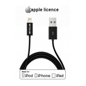 Data Cable Ancus for iPhone/iPad/iPod Lightning Black Apple Certified MFI (Compatible with all iOS Upgrades)