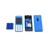 Front Cover Nokia 206 with keyboard Blue OEM