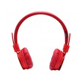 Headphone Stereo NIA Foldable NIA-1682 3.5 mm Red with FM Radio and MP3 Player with Micro SD MC