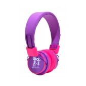 Stereo Earphone Baby EP-15 3.5 mm Purple - Fuchsia with Microphone and Answer Button for Mobile Phones, mp3, mp4 and Sound Devices