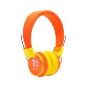 Stereo Earphone Baby EP-15 3.5 mm Orange - Yellow with Microphone and Answer Button for Mobile Phones, mp3, mp4 and Sound Devices