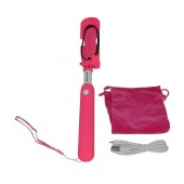 Selfie Stick Ancus Mini Bluetooth Pink (Closed 18cm, with Extention 72cm )