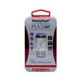 PhotoFast USB 3.0 i-FlashDrive Max 64GB OTG MFI for iPhone & iPad & iPod by Gigastone  PF-iFMAXU364GB-R