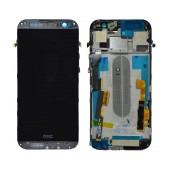 Original LCD & Digitizer for HTC One M8 Grey with Frame Swap