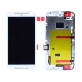 Original LCD with Digitizer for Motorola Moto G (2014) White with Frame