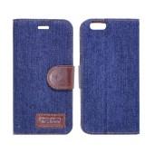 Book Case Ancus Teneo Fabric for Apple iPhone 6/6S Dark Blue