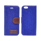 Book Case Ancus Teneo Fabric for Apple iPhone 6/6S Blue