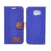 Book Case Ancus Teneo Fabric for Samsung SM-G920F Galaxy S6 Blue