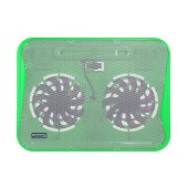 Laptop Cooler CoolCold Ice Thin K19 Green for Laptop up to 17