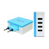 Travel Charger Ancus Multi Charger 4 Usb 4.2A White - Blue
