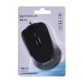 Mobilis MM-353 Wired Mouse 3 Button 800 DPI Black (104*66*39mm)