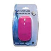 Mobilis MM-131 Wireless Mouse 4 Button 1600 DPI Pink (112*57*35mm)