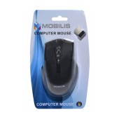 Mobilis MM-126 Wireless Mouse 6 Button 1600 DPI Black (108*70*38mm)