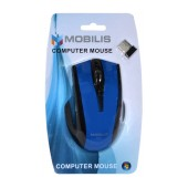 Mobilis MM-126 Wireless Mouse 6 Button 1600 DPI Black - Blue (108*70*38mm)