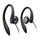 Hands Free Philips Sports Earhook SHS3300BK Stereo Black without Microphone