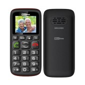 Maxcom MM428BB (Dual Sim) with Large Buttons, FM Radio (Works without Handsfree), Torch and Emergency Button Black