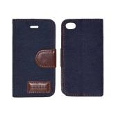 Book Case Ancus Teneo Fabric for Apple iPhone 4/4S Dark Blue