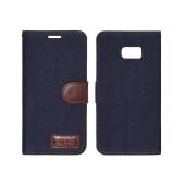 Book Case Ancus Teneo Fabric for Samsung SM-G928F Galaxy S6 Edge+ Dark Blue