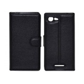 Book Case Ancus Teneo TPU for Sony Xperia E3/E3 Dual Black
