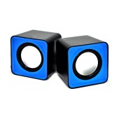 Speaker Stereo Nakai F-C1 2.5Wx2 RMS Black - Blue with USB 6x6x5.5cm