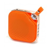 Mini Bluetooth Speaker Peterhot PTH-16 3W Orange with Speakerphone, AUX and MP3 Player with Micro SD Memory Card and USB