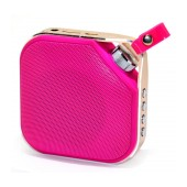Mini Bluetooth Speaker Peterhot PTH-16 3W Pink with Speakerphone, AUX and MP3 Player with Micro SD Memory Card and USB