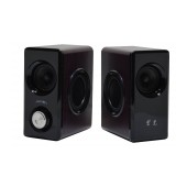 Speaker Stereo Nakai SE-608 3Wx2 RMS Brown with EU plug 14x7x11cm