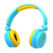 Stereo Headphone Keeka KE-600 40mm 3.5 mm Blue for mp3, mp4 and sound devices