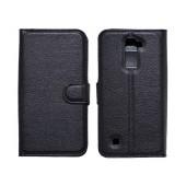 Book Case Ancus Teneo for LG K10 K420N TPU Black