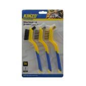 Wire Brush Set Kinzo 2023195 in Different Types (Steel, Brass, Plastic) 3 Pcs