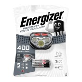 Energizer Vision HD+ Focus Headlight 3 Led 300 Lumens with Batteries 3 x AAA Grey