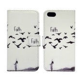 Book Case Ancus Art Collection for Apple iPhone SE/5/5S Faith