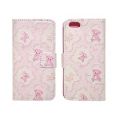 Book Case Ancus Art Collection for Apple iPhone SE/5/5S Teddy Bear