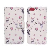Book Case Ancus Art Collection for Apple iPhone SE/5/5S Flower