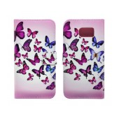 Book Case Ancus Art Collection for Samsung SM-G920 Galaxy S6 Butterfly