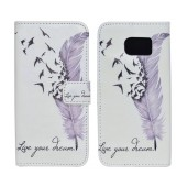 Book Case Ancus Art Collection for Samsung SM-G920 Galaxy S6 Live Your Dream