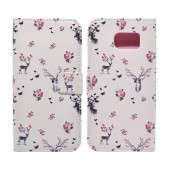 Book Case Ancus Art Collection for Samsung SM-G920 Galaxy S6 Flower