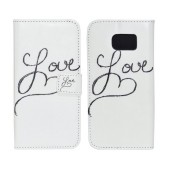 Book Case Ancus Art Collection for Samsung SM-G920 Galaxy S6 Love