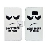 Book Case Ancus Art Collection for Samsung SM-G930 Galaxy S7 Don't Touch My Phone