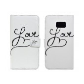Book Case Ancus Art Collection for Samsung SM-G930 Galaxy S7 Love