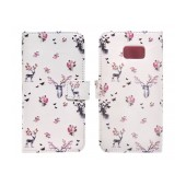 Book Case Ancus Art Collection for Samsung SM-G930 Galaxy S7 Flower