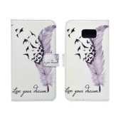 Book Case Ancus Art Collection for Samsung SM-G930 Galaxy S7 Live Your Dream