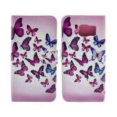 Book Case Ancus Art Collection for Samsung SM-G935 Galaxy S7 Edge Butterfly