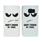 Book Case Ancus Art Collection for Samsung SM-G935 Galaxy S7 Edge Don't Touch My Phone