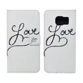 Book Case Ancus Art Collection for Samsung SM-G935 Galaxy S7 Edge Love