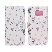 Book Case Ancus Art Collection for Samsung SM-G935 Galaxy S7 Edge Flower