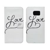 Book Case Ancus Art Collection for Samsung SM-G925 Galaxy S6 Edge Love