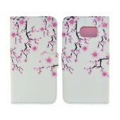 Book Case Ancus Art Collection for Samsung SM-G925 Galaxy S6 Edge Almond Tree